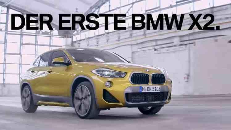 Screenshot aus BMW X2 Werbung