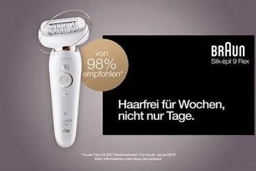 Screenshot aus der Braun Silk-épil 9 Flex Werbung