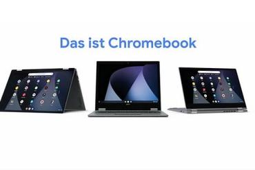 Screenshot aus der Chromebook Werbung