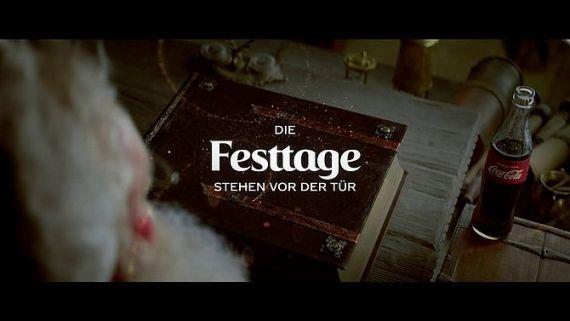 Screenshot aus Coca Cola Weihnachten Werbung