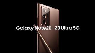 Screenshot aus der Samsung Galaxy Note20 Werbung