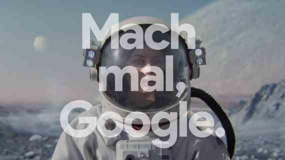 Screenshot aus Google Assistant Werbung