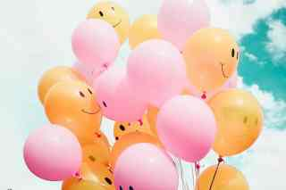 lachende Luftballons