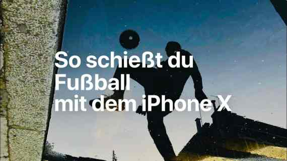 Screenshot aus iPhone X Werbung