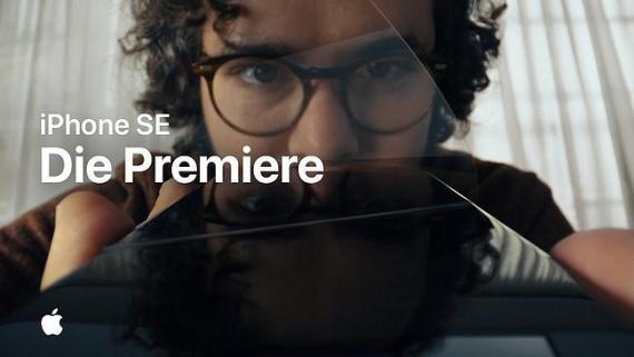 Screenshot aus der iPhone SE Werbung