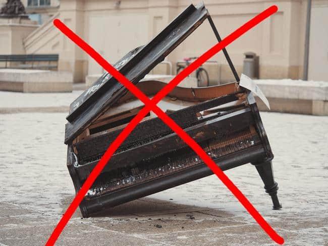 Kaputtes Klavier