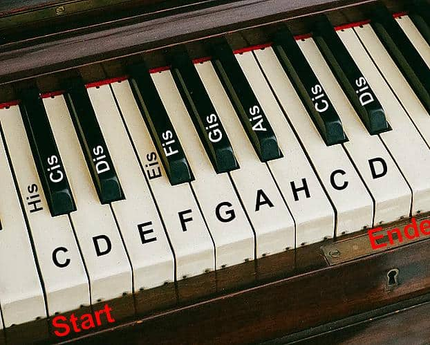 Klavier Tonleiter