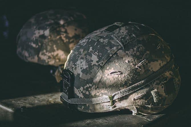 Helm eines Soldaten