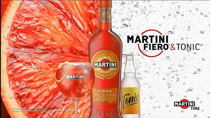 Screenshot aus der Martini Fiero & Tonic Werbung