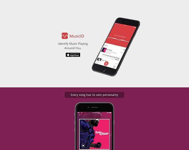 MusicID Webseite