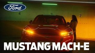 Screenshot aus der Ford Mustang Mach-E Werbung