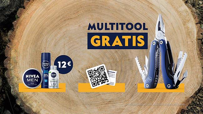 Screenshot aus Nivea Men Multitool Werbung