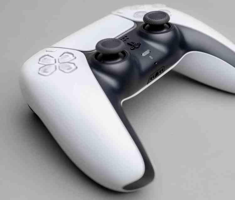 PS5 Controller grauer Hintergrund