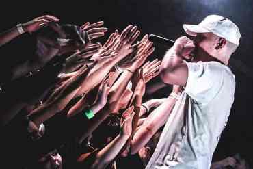 Rapper bei einem Konzert