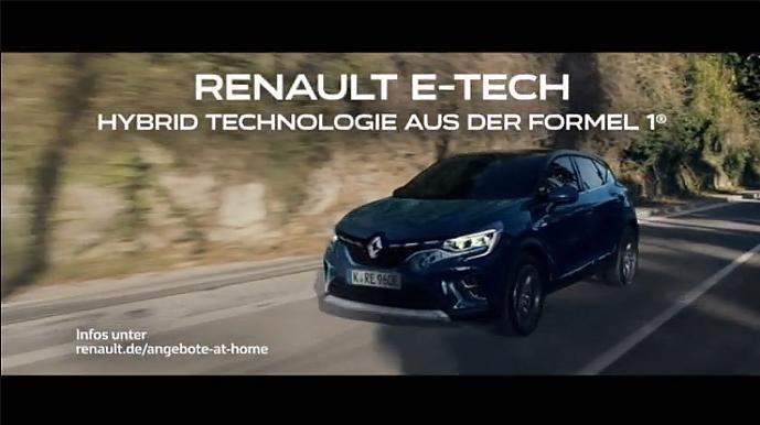 Screenshot aus der Renault E Tech Werbung