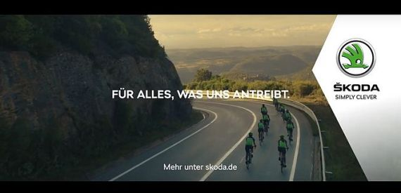 Screenshot aus Skoda Werbung
