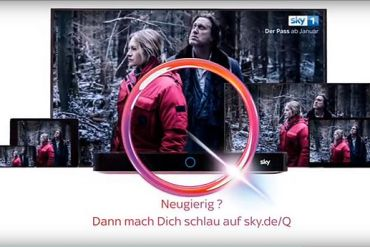 Screenshot aus Sky Q Werbung