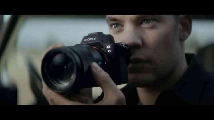 Screenshot aus Sony Alpha 7 Werbung