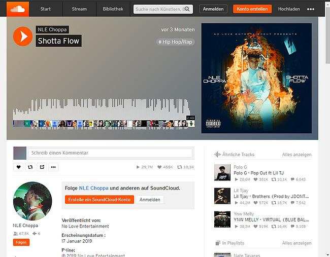 Soundcloud Webseite