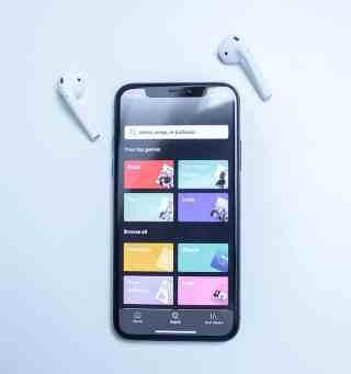 Smartphone Benutzeroberfläche von Spotify