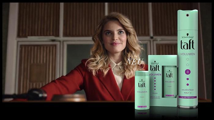 Screenshot aus der Taft Werbung