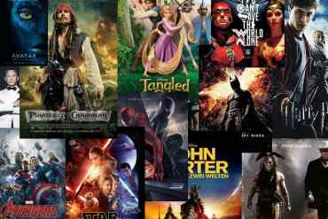 Verschiedene Poster der erfolgreichsten Filme aller Zeiten