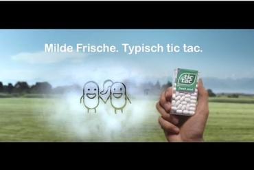 Screenshot aus Tic Tac Werbung