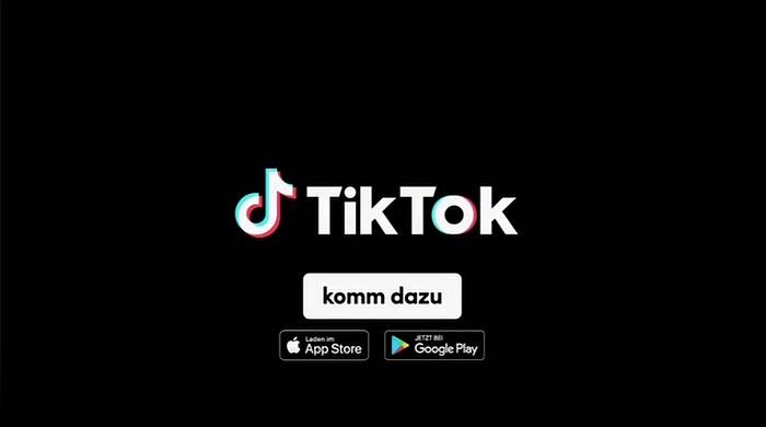 Screenshot aus der TikTok Werbung