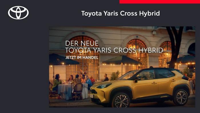 Screenshot aus der Toyota Yaris Cross Hybrid Werbung