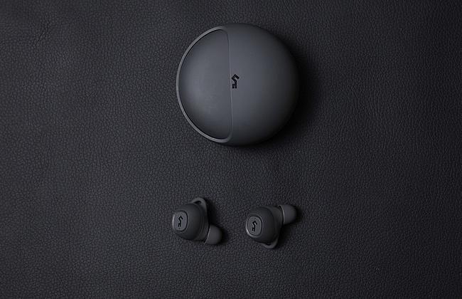 True Wireless Kopfhörer dunkel