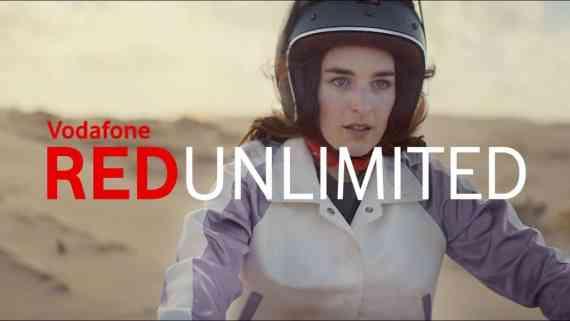 Screenshot aus Vodafone Red Unlimited Werbung