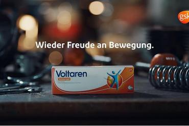 Screenshot aus der Voltaren Werbung