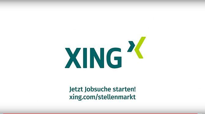 Screenshot aus Xing Werbung