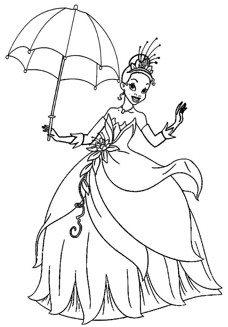Jogos de pintar a moana: Desenhos da Princesa Tiana para colorir - Pop Lembrancinhas