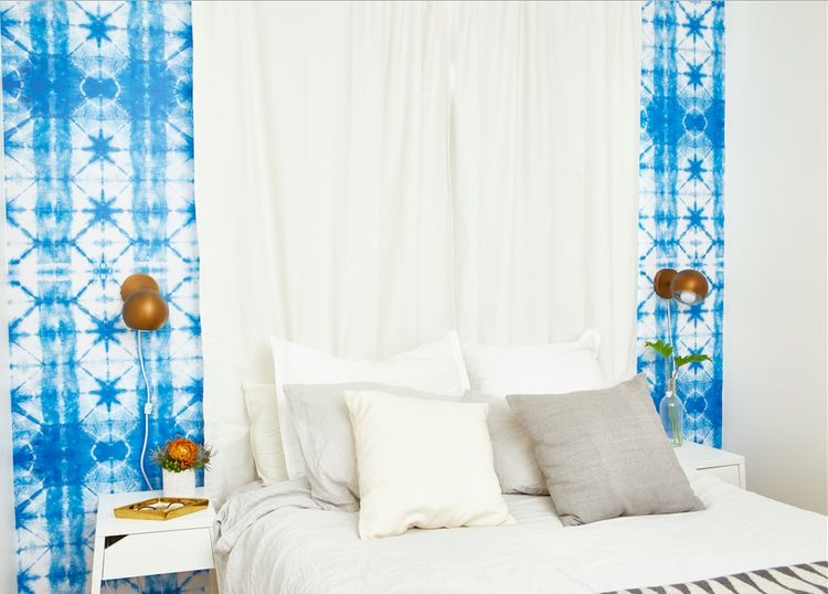 #wallpaperideas #shibori #beachyboho #bohofficeideas #officedecor | Poplolly co.