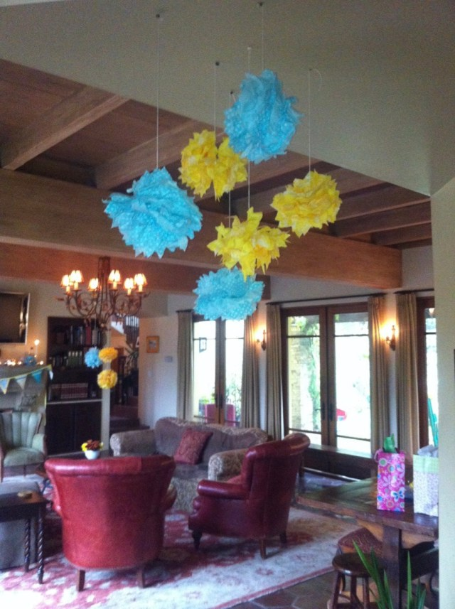 turquoise and yellow fall baby shower | Poplolly co