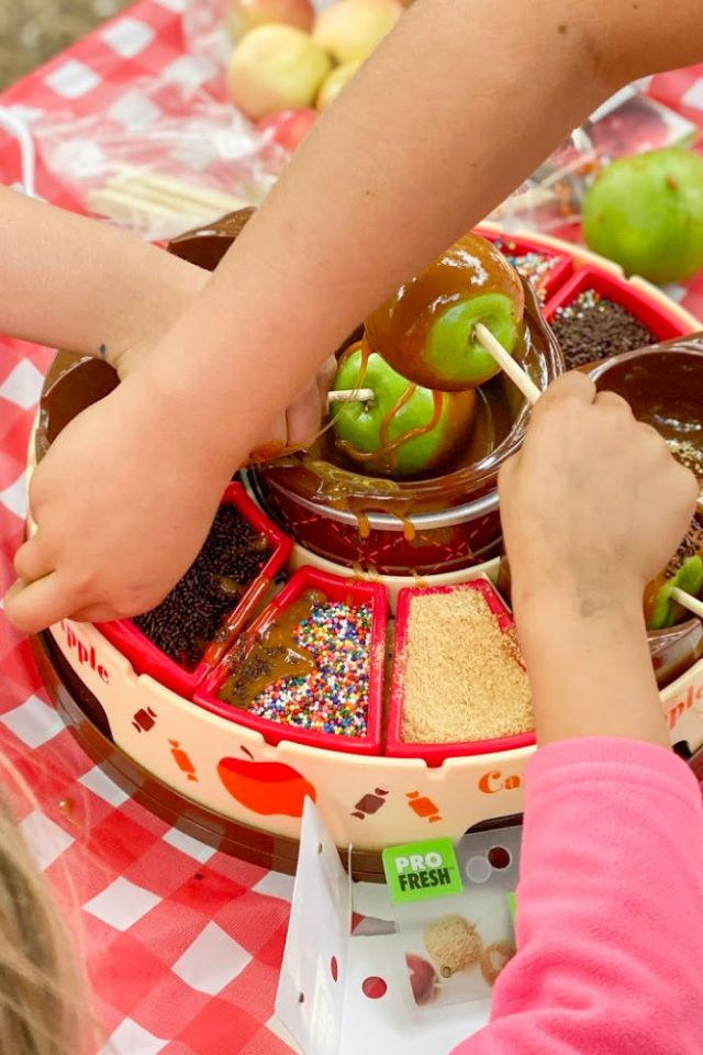 caramel apple station fall birthday | Poplolly co