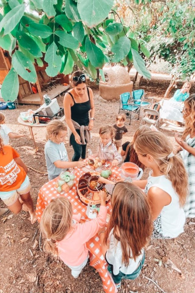 caramel apple station harvest birthday | Poplolly co
