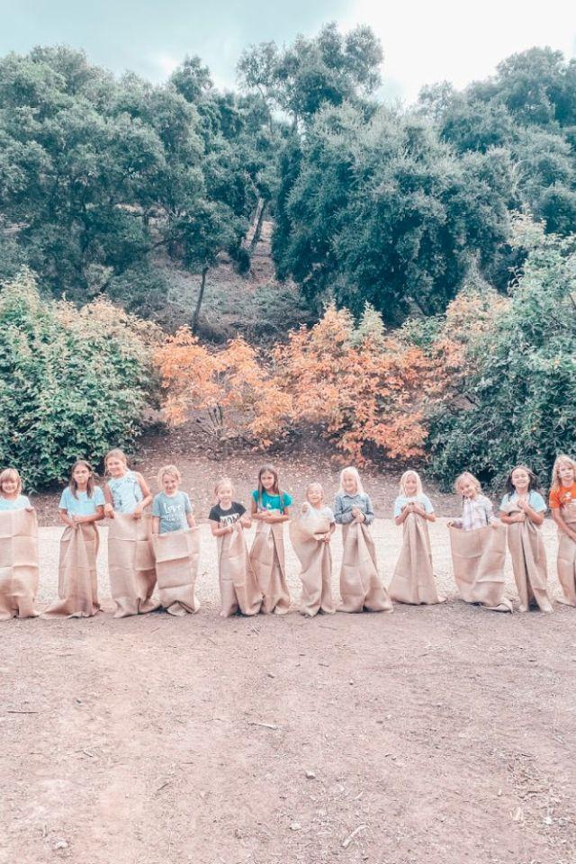 Fall Harvest Party Ideas sack races | Poplolly co
