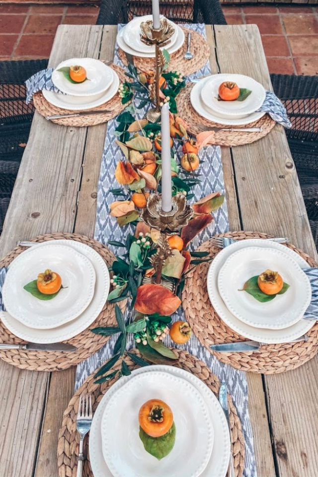 Neutral and Natural Thanksgiving table idea | Poplolly co