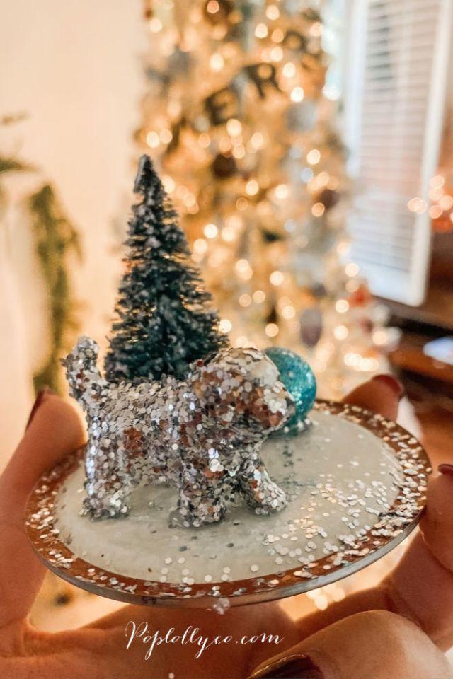 create your own scene for a diy mason jar snow globe | Poplolly co