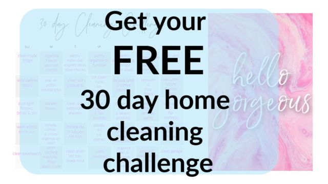 30 day home cleaning challenge printable
