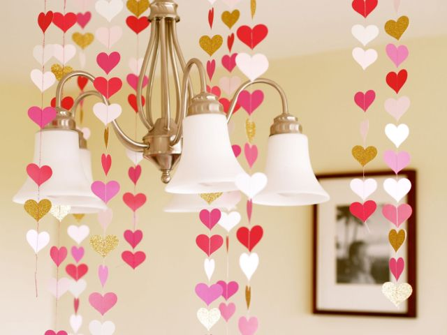 paper heart garlands | Poplolly co
