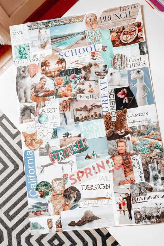 vision board example | beat the blues and set goals and claim your dreams | Poplolly co