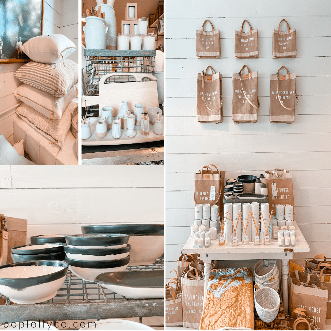 things to do on bainbridge island | salt house mercantile | shop | gift stores | home decor | coastal chic | Poplolly co