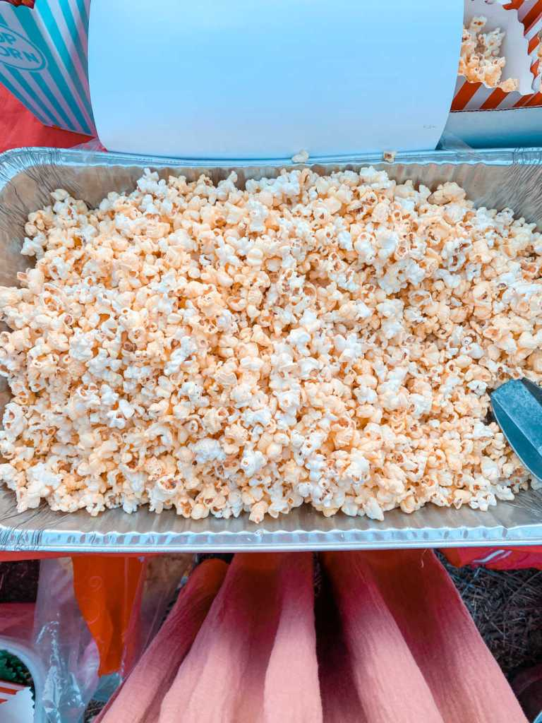 Popcorn for an outdoor movie night party | Food ideas | backyard movie night | drive in party | Poplolly co