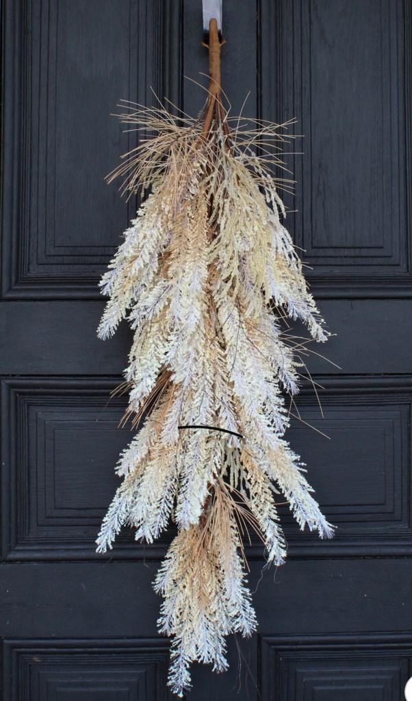 pampas grass swag for front door | front door decor | Poplolly co