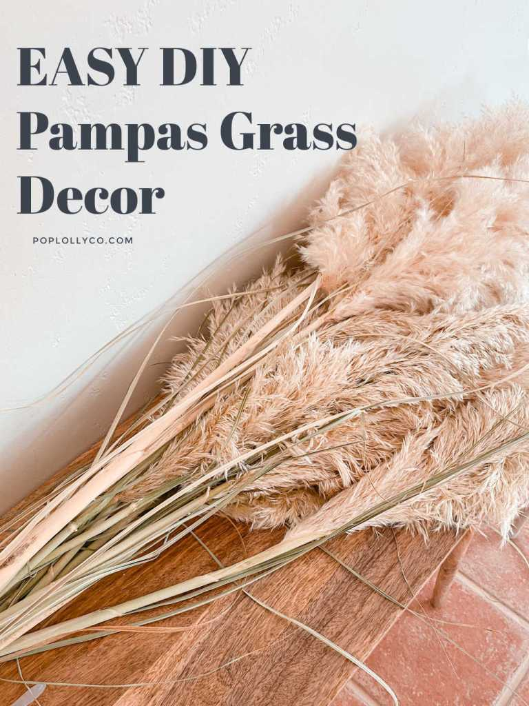 how to diy a pampas grass garland for your mantle | boho chic decor | Poplolly co