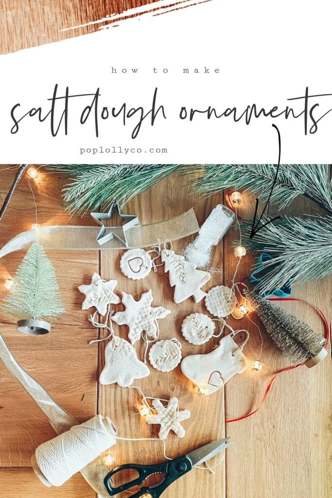 how to make salt dough ornaments | salt dough recipe | diy christmas gift ideas | homemade ornaments | Poplolly co