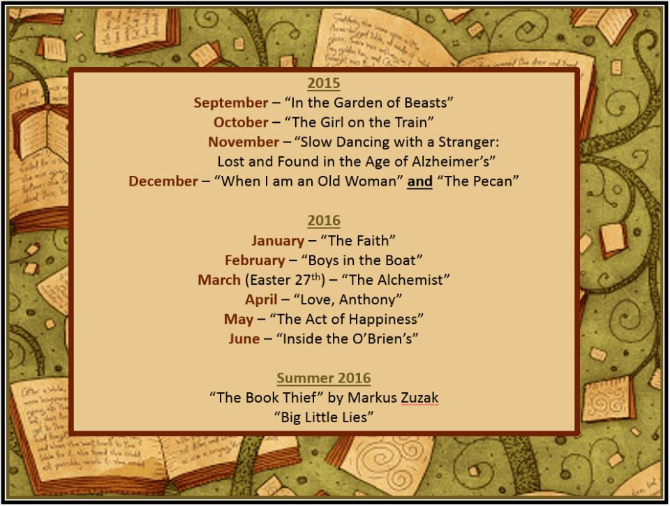 2015 - 2016 book lista